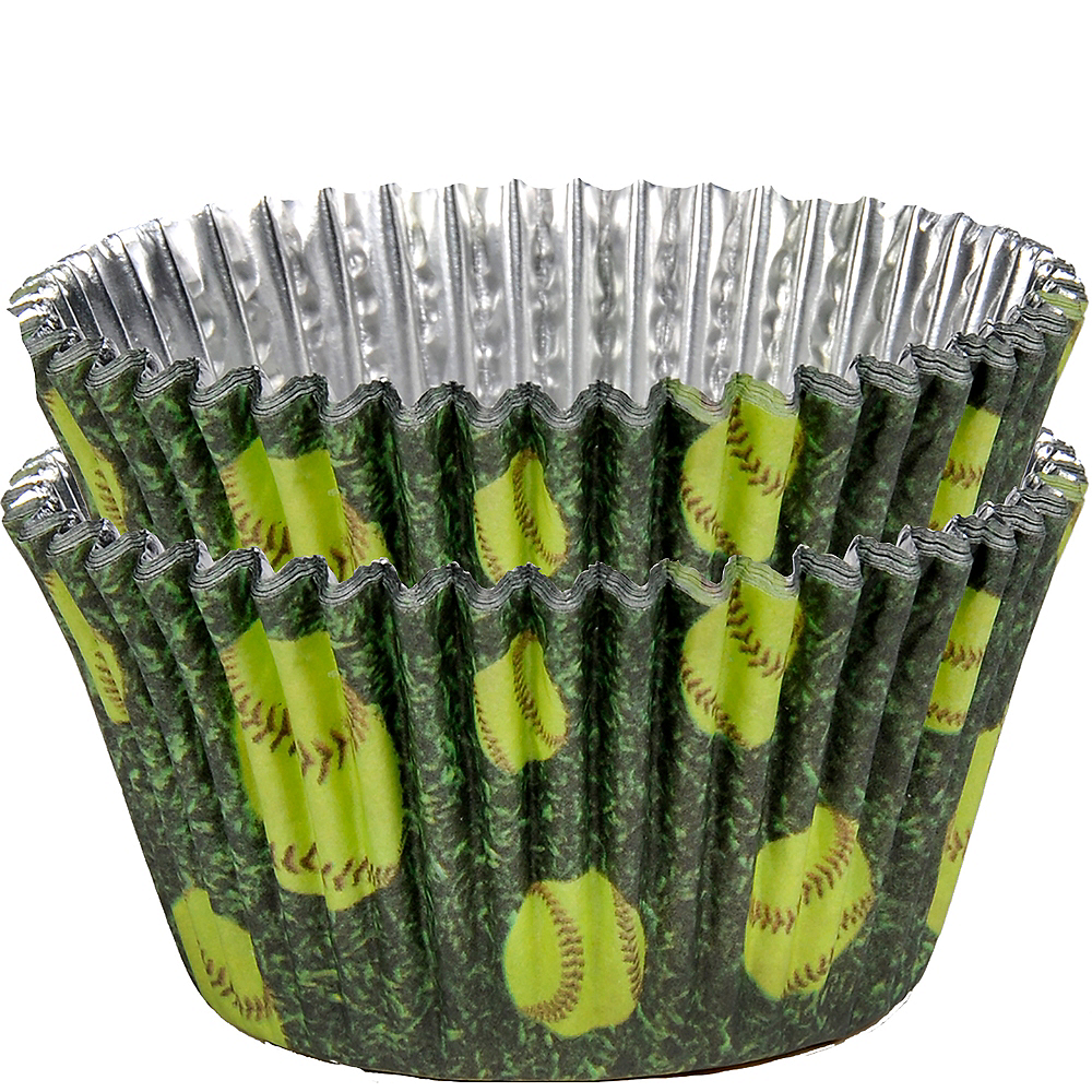 Fastpitch Softball Cupcake Liners 36ct Image #1