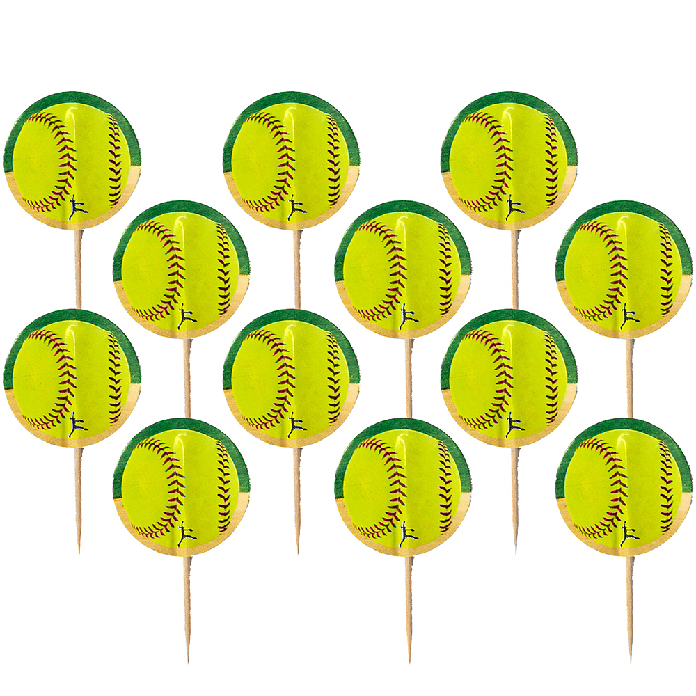 Fastpitch Softball Party Picks 24ct Image #1