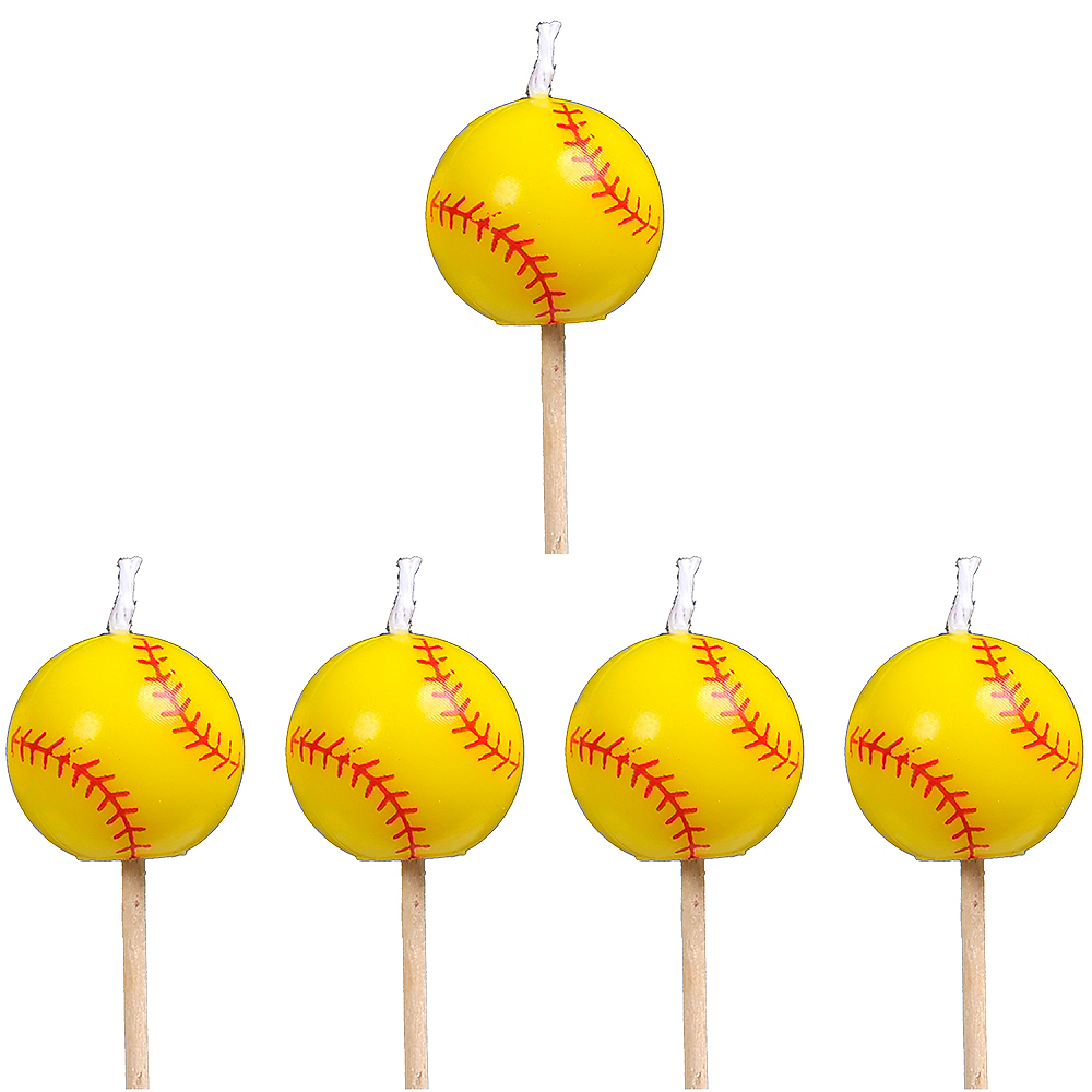 Fastpitch Softball Toothpick Candles 5ct Image #1