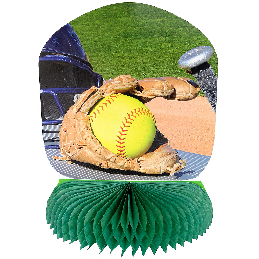Nav Item for Fastpitch Softball Honeycomb Centerpiece Image #1