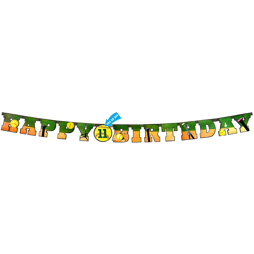 Fastpitch Softball Happy Birthday Letter Banner Image #1
