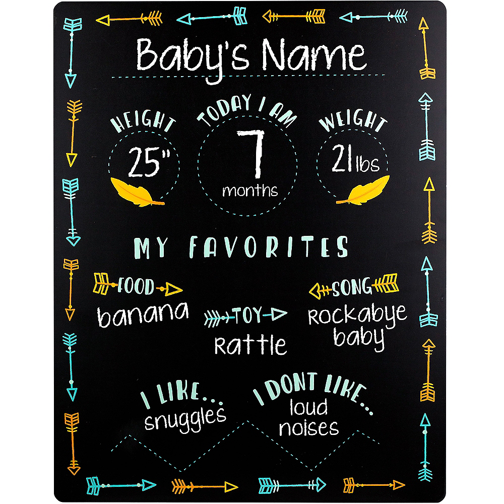 Nav Item for Baby Boy Milestones Chalkboard Sign Image #2