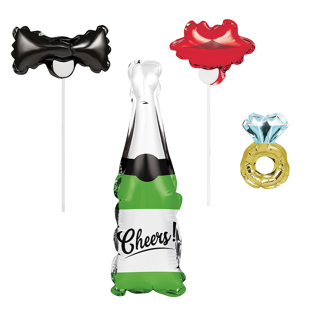 Wedding Balloon Photo Booth Props 4ct Image #1