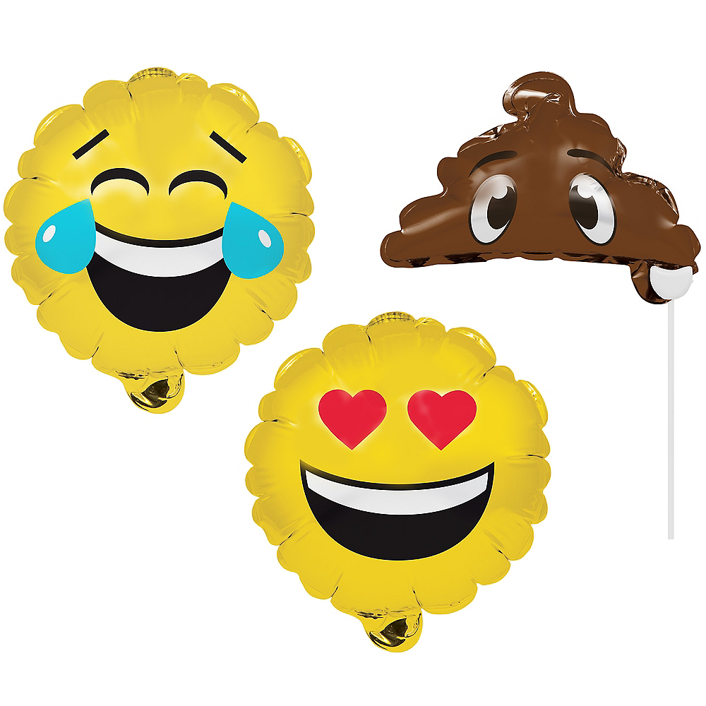 Smiley Balloon Photo Booth Props 3ct Image #1