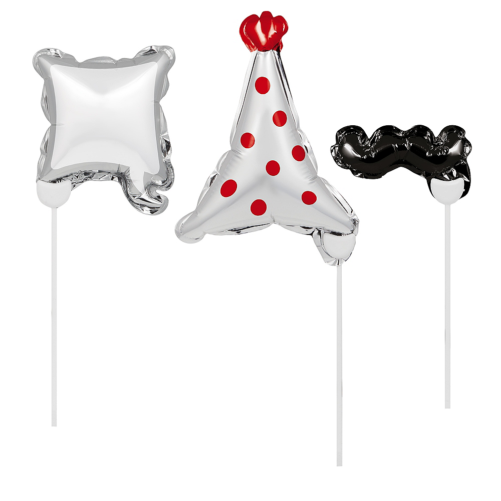 Party Balloon Photo Booth Props 3ct Image #1