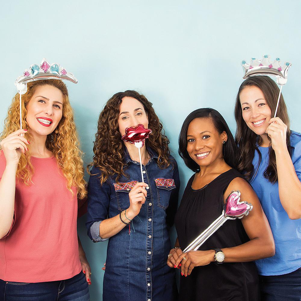 Princess Balloon Photo Booth Props 4ct Image #2