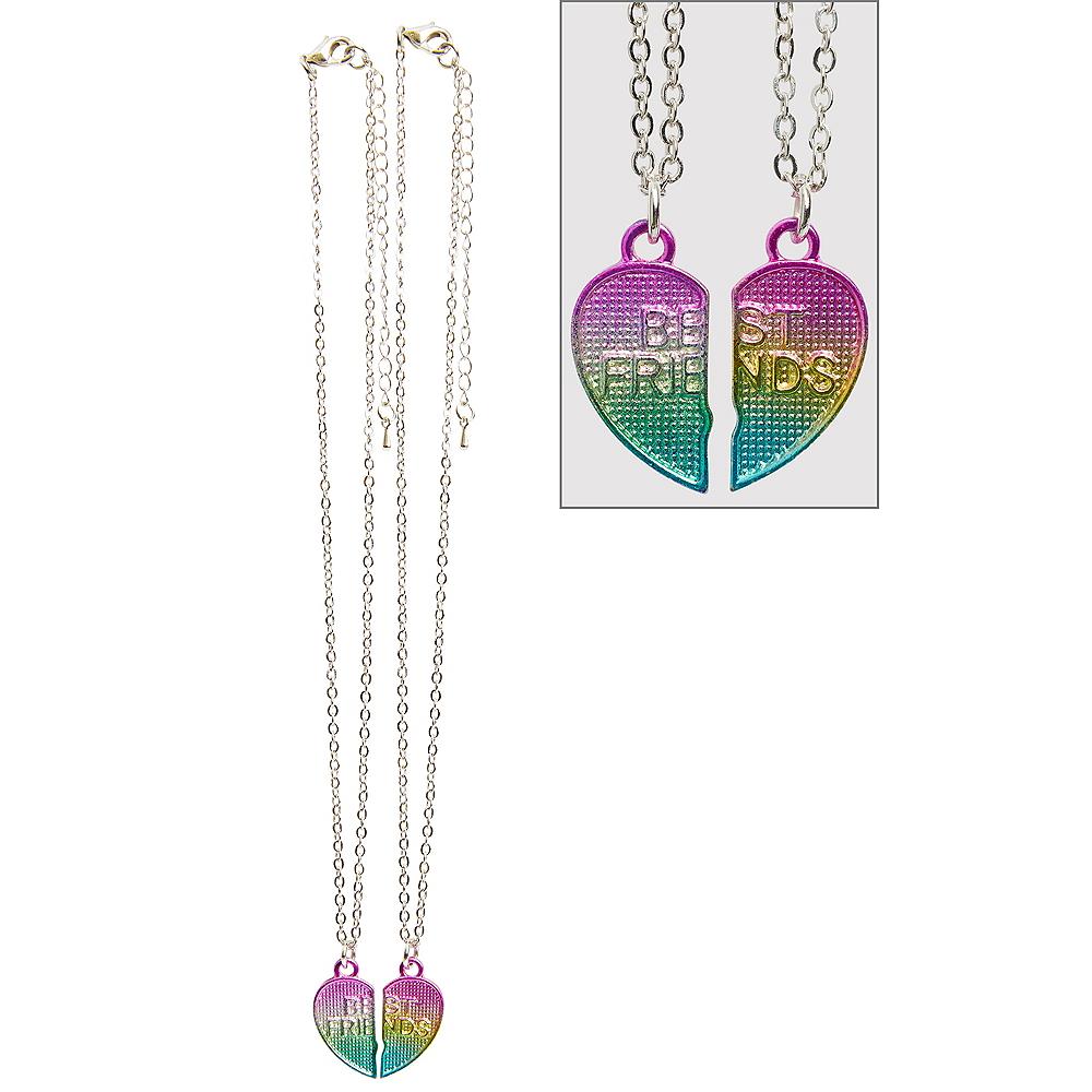Rainbow Heart Best Friends Necklaces 2pc Image #1