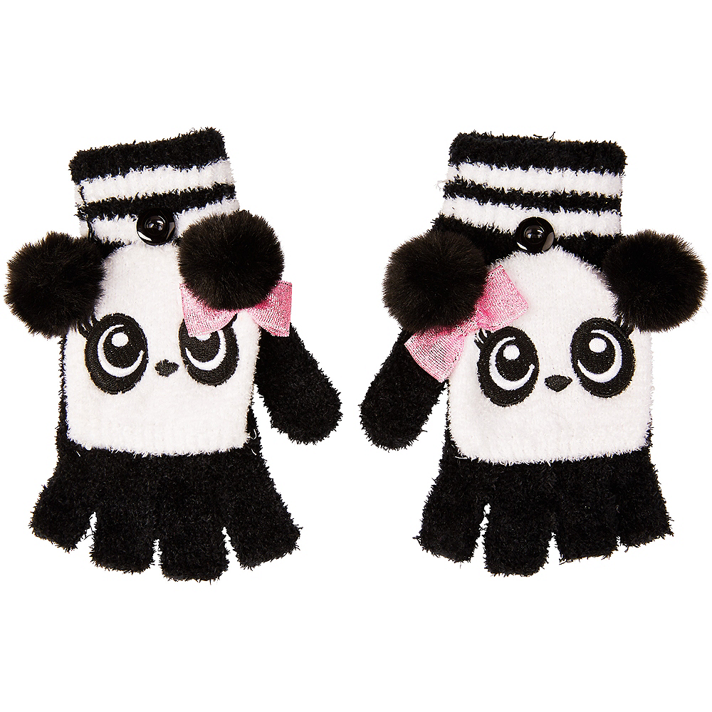 Panda Fingerless Gloves Image #1