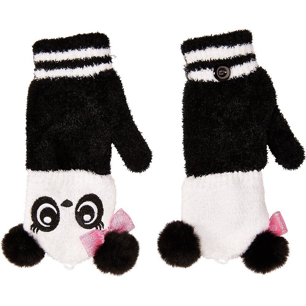Panda Fingerless Gloves Image #2