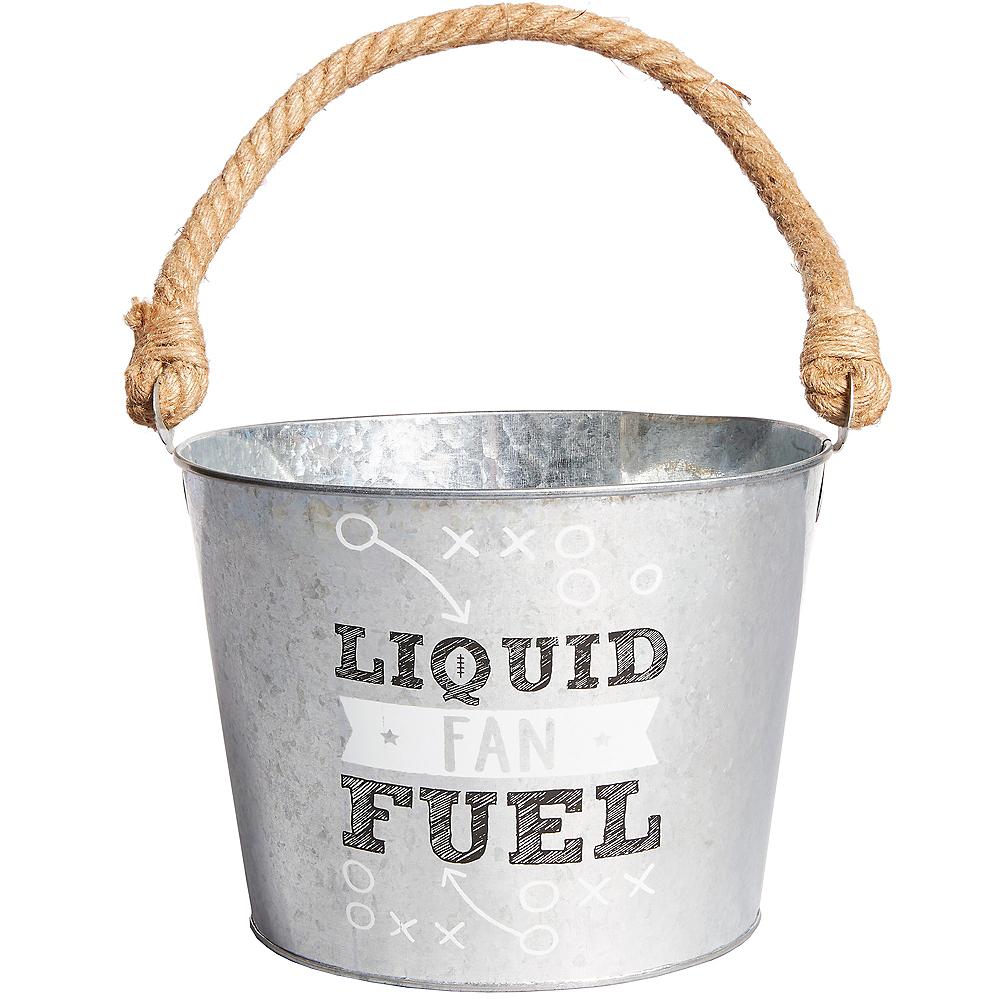 Liquid Fan Fuel Football Galvanized Bucket Image #1