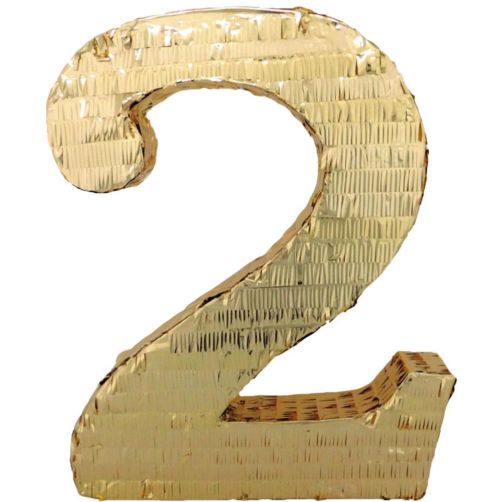 Gold Number 2 Pinata Image #1