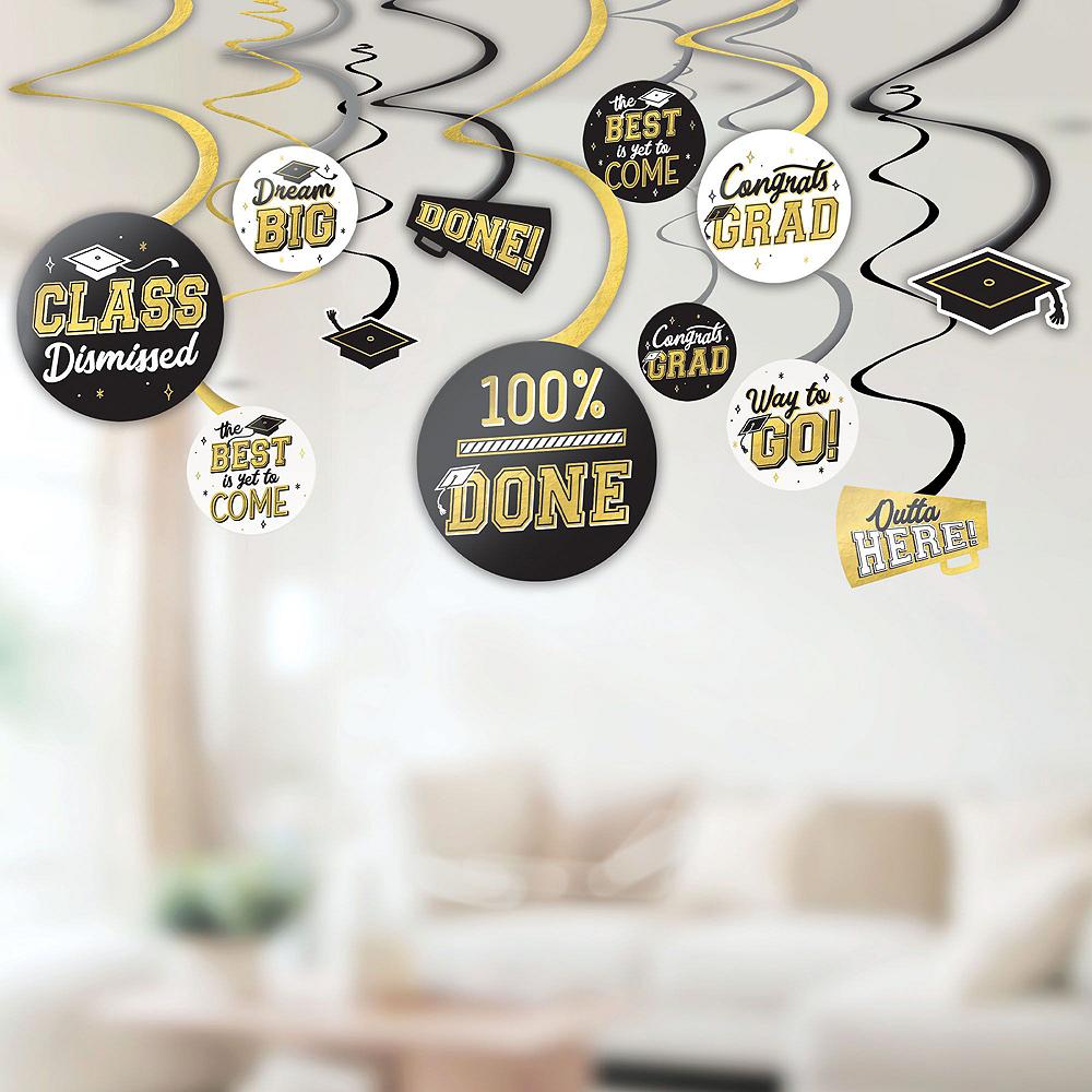 Super Congrats Grad Gold Graduation Party Kit for 54 Guests Image #8