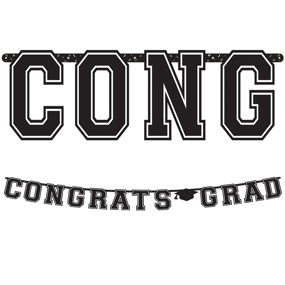 Super Congrats Grad Gold Graduation Party Kit for 54 Guests Image #10