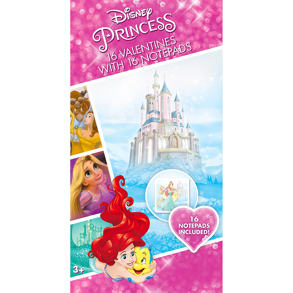 disney princess valentine exchange cards with favors 16ct