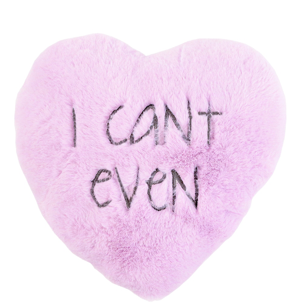I Can't Even Heart Pillow Image #1