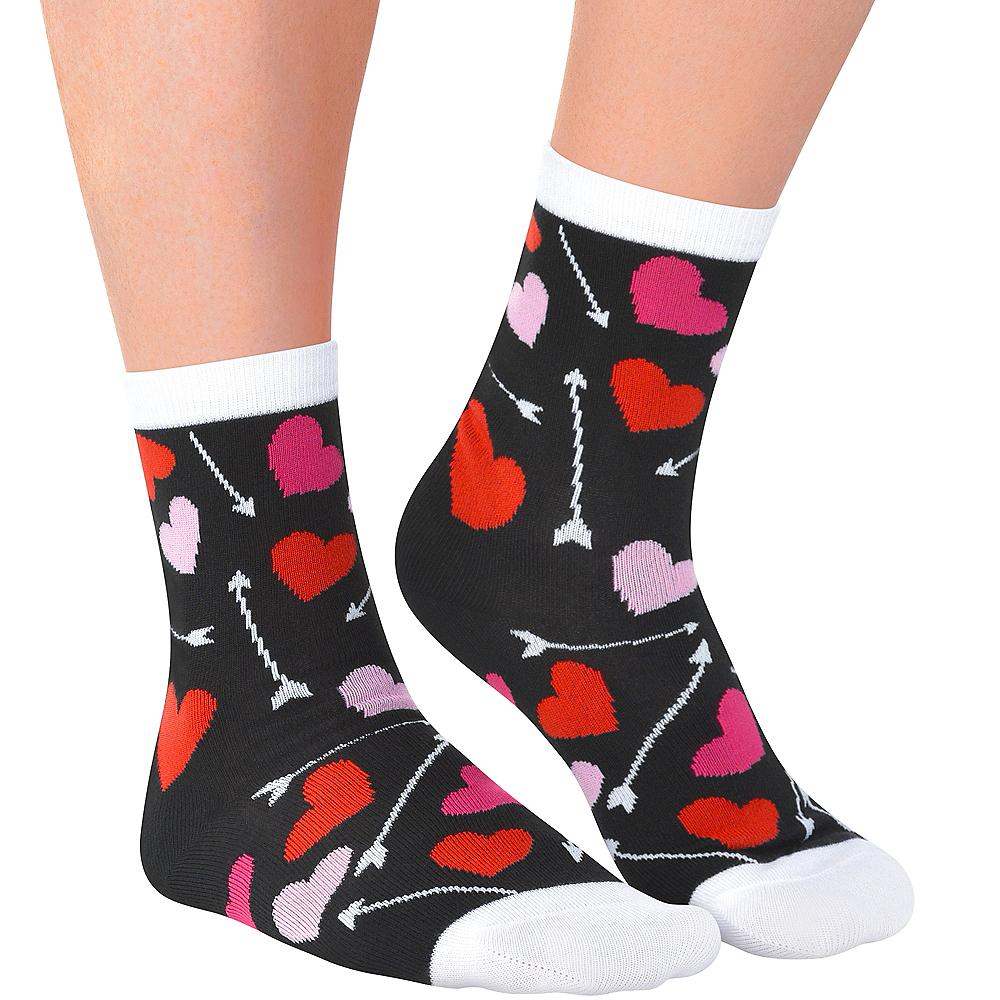 Adult Arrows & Hearts Crew Socks Image #1