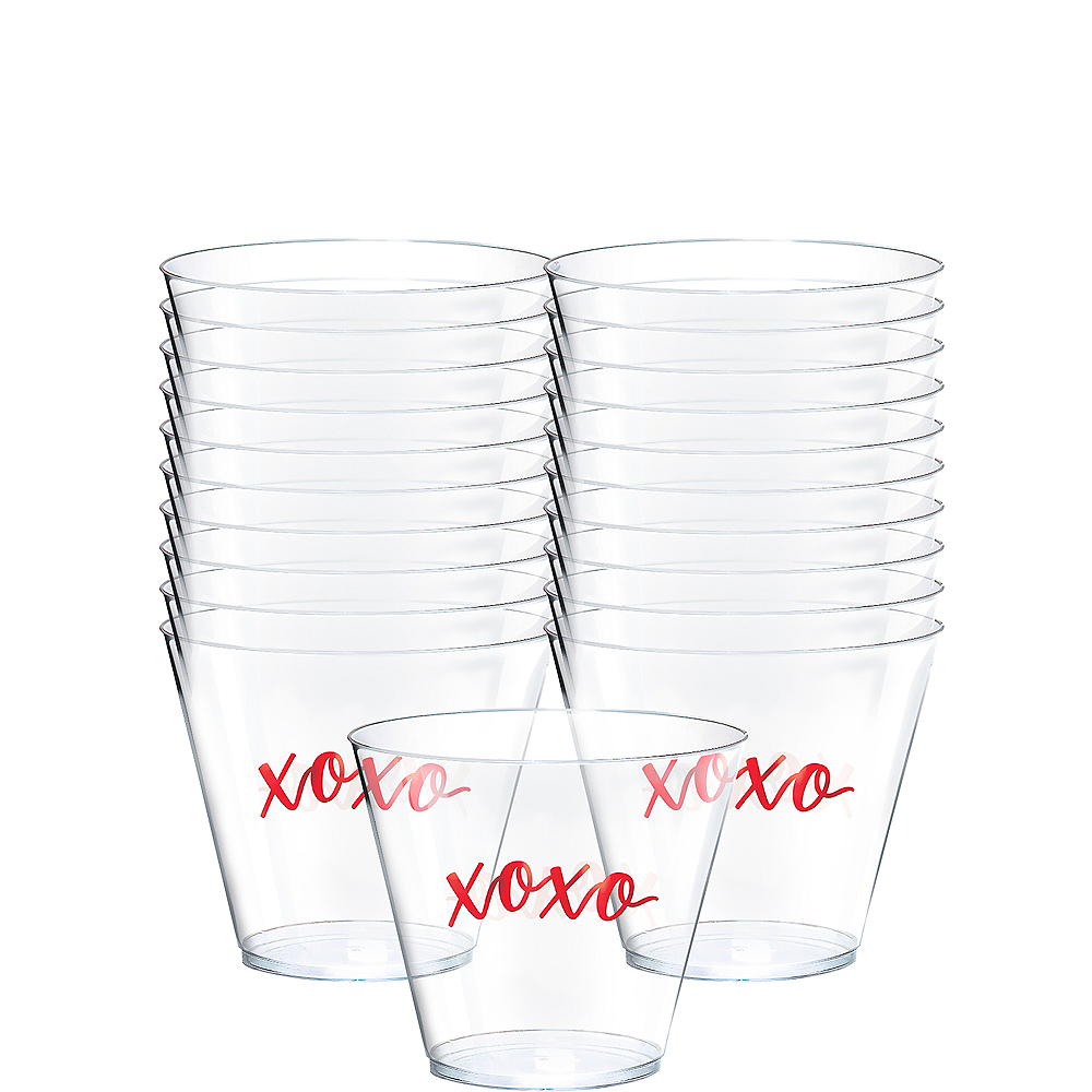Nav Item for Valentine's Day Premium Plastic Tumblers 30ct Image #1