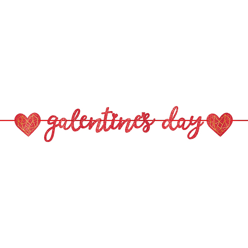 Glitter Galentine's Day Letter Banner Image #1