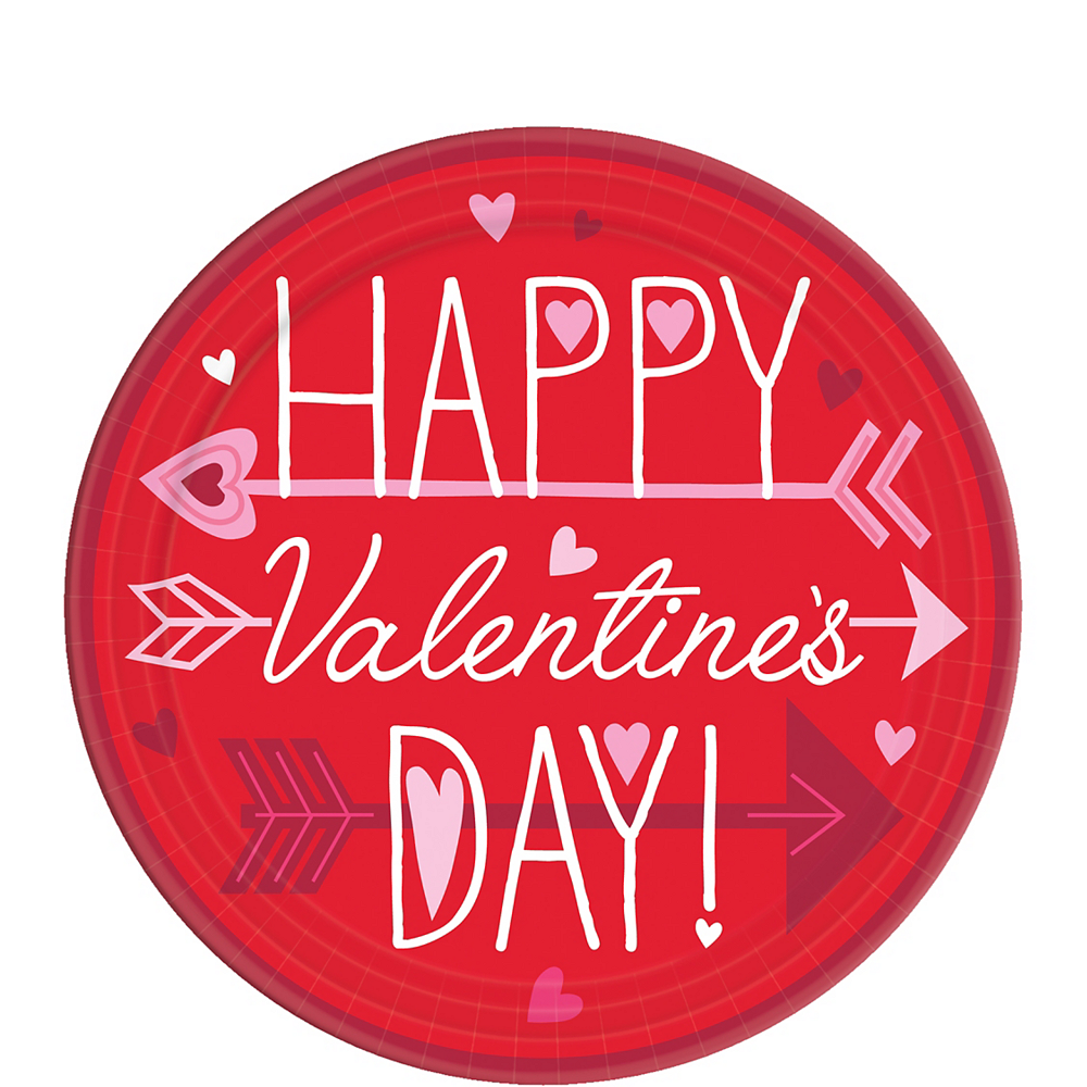 Valentine Wishes Dessert Plates 18ct Image #1