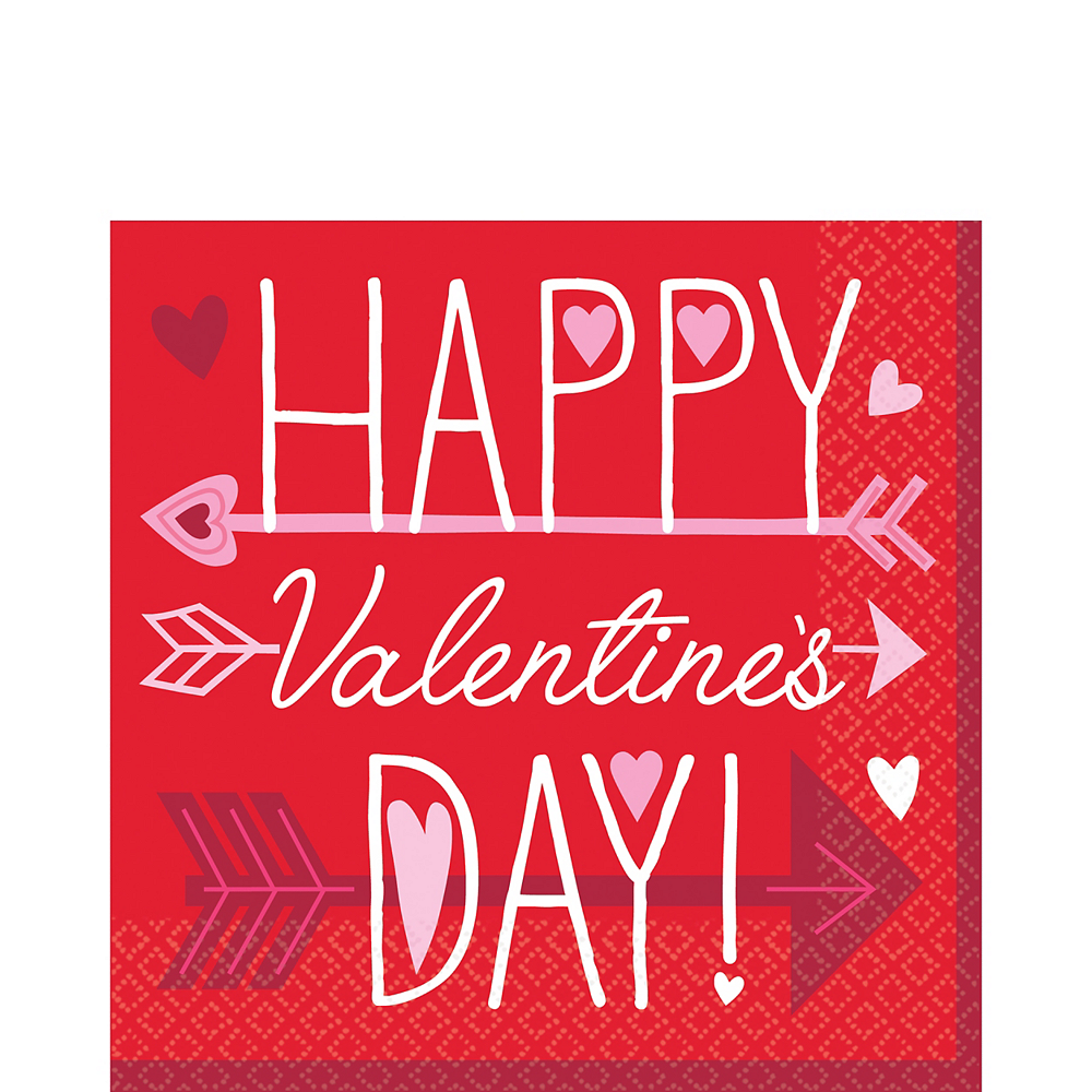 Valentine Wishes Lunch Napkins 36ct Image #1