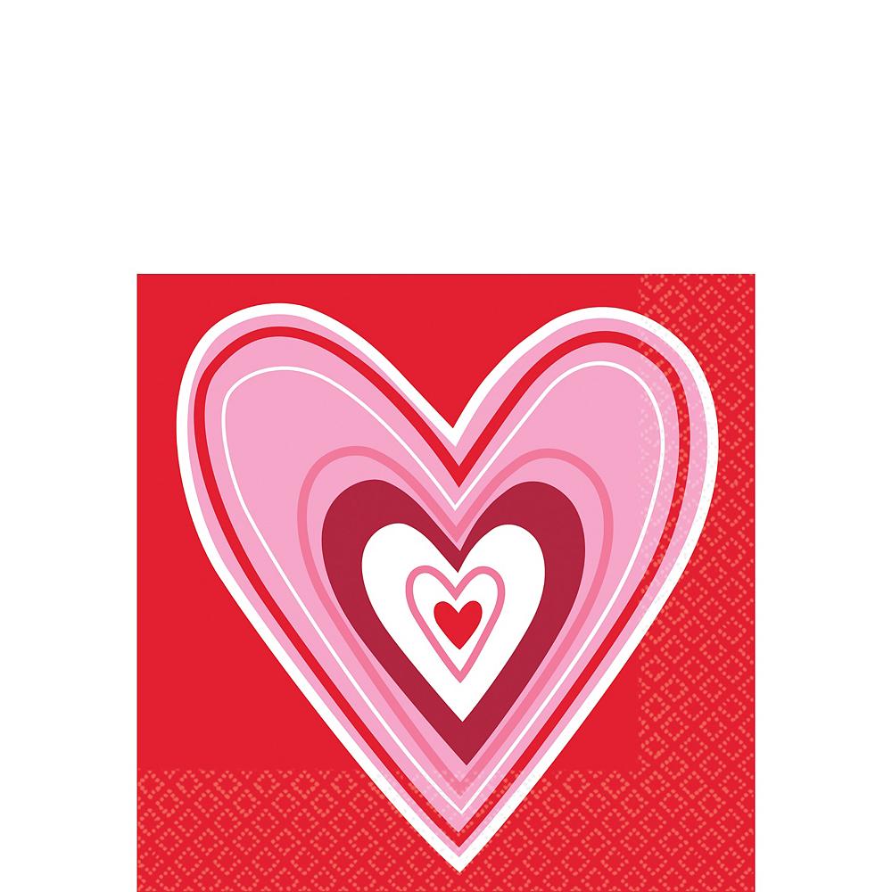 Valentine Wishes Beverage Napkins 36ct Image #1
