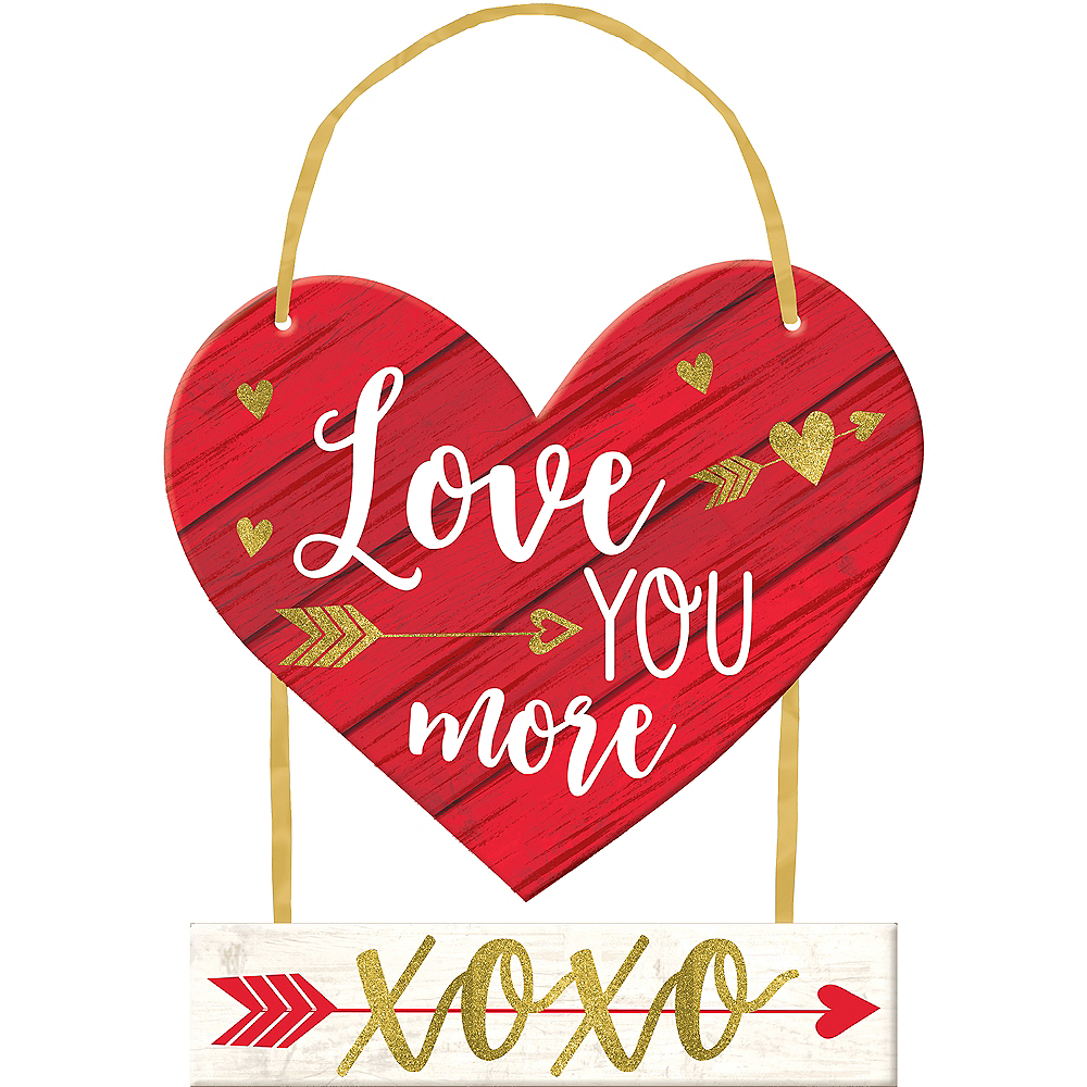Love You More Stacked Sign Image #1