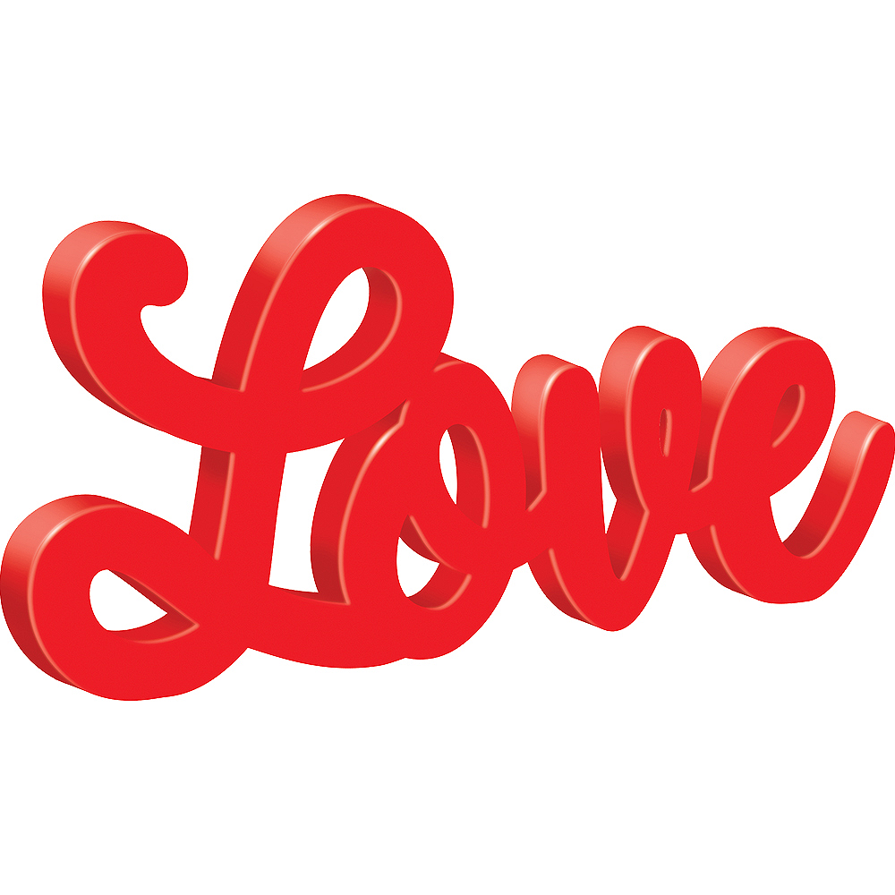 Nav Item for Script Love Block Letter Sign Image #1