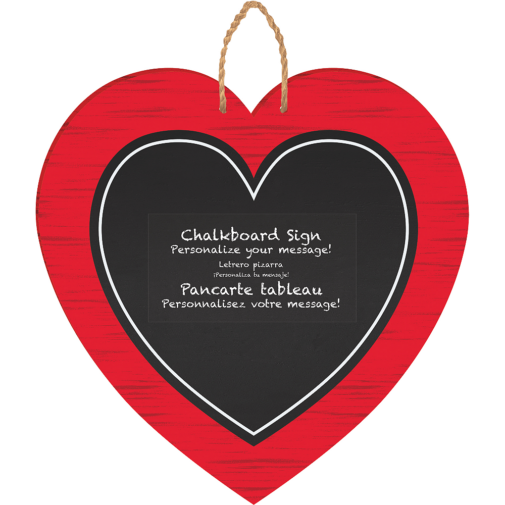 Heart Chalkboard Sign Image #1
