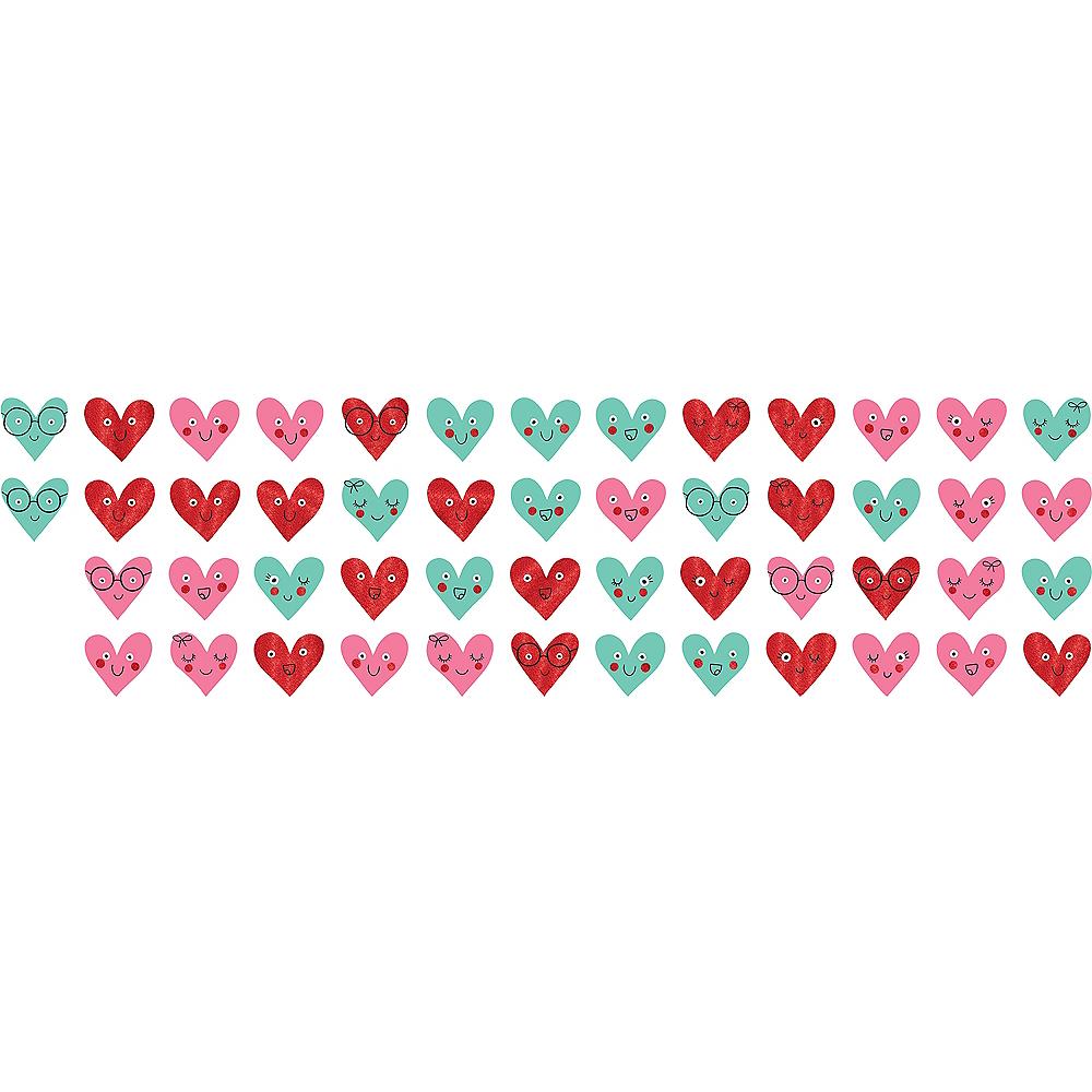 Glitter Heart Face Cutouts 50ct Image #1