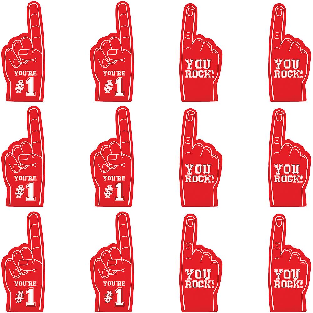 Mini Red Foam Fingers 12ct Image #1