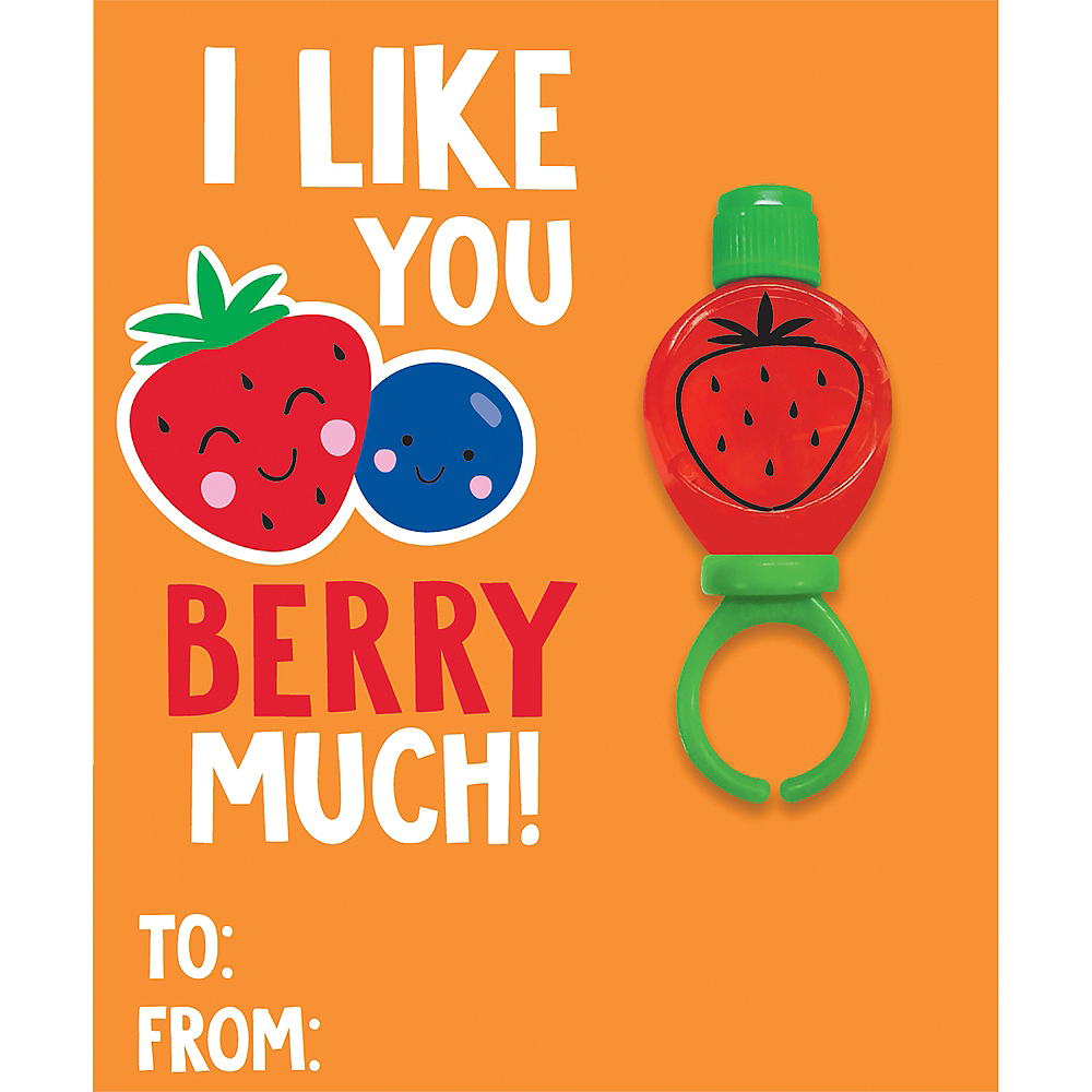 Fruit Valentine Exchange Cards with Favors 6ct Image #2