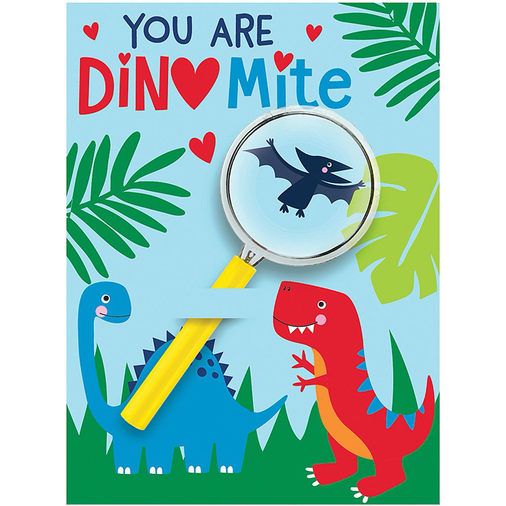 Dinosaur Valentine Exchange Cards with Favors 12ct Image #1