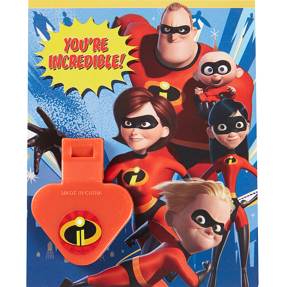 Incredibles Valentine Exchange Cards with Favors 12ct Image #2