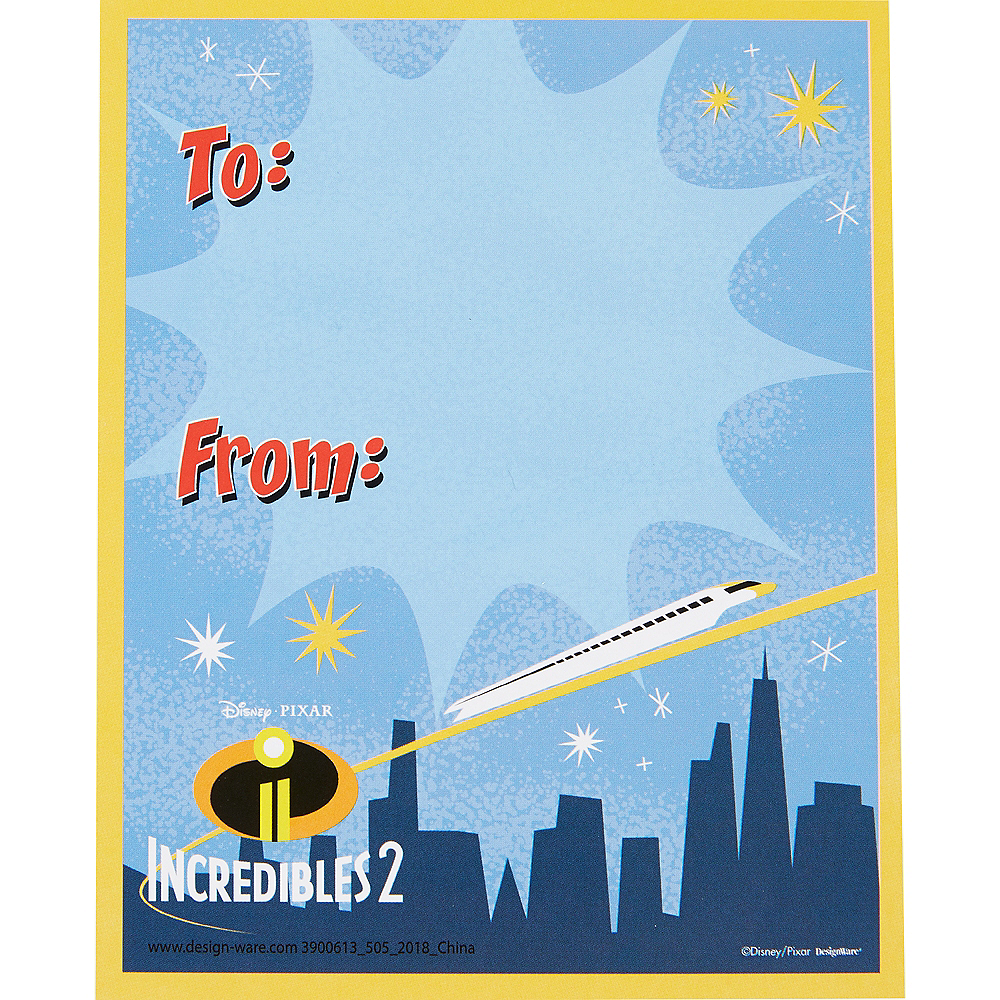 Incredibles Valentine Exchange Cards with Favors 12ct Image #3