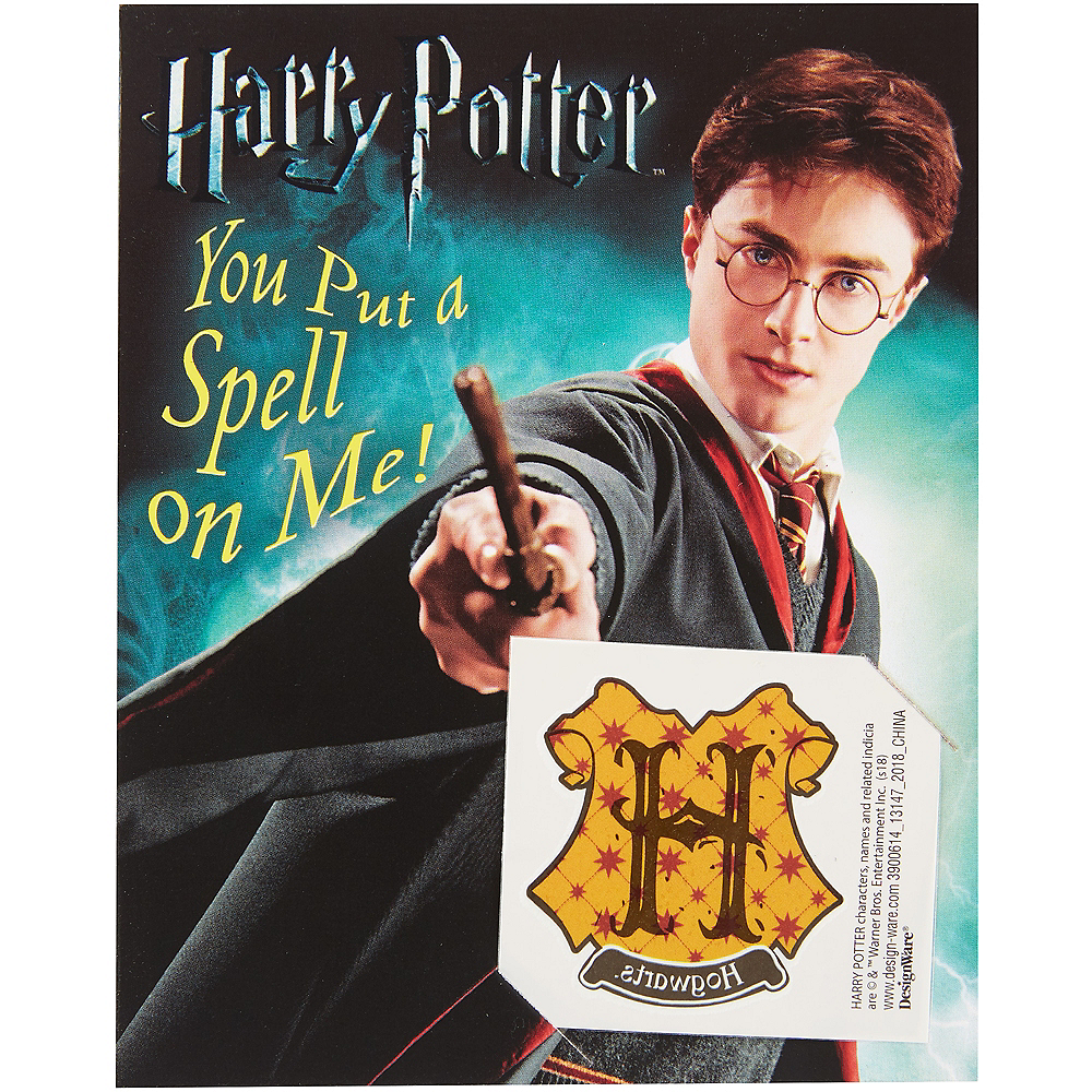 Nav Item for Harry Potter Valentine Exchange Cards with Favors 12ct Image #1