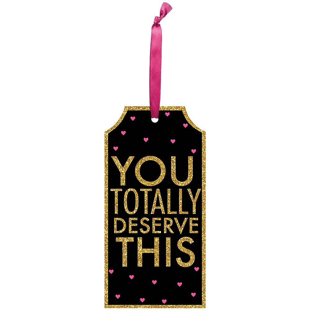 Glitter You Deserve This Bottle Tag Image #1