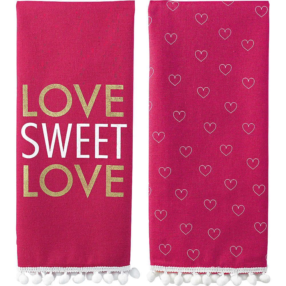 Love Sweet Love Kitchen Towels 2ct Image #1