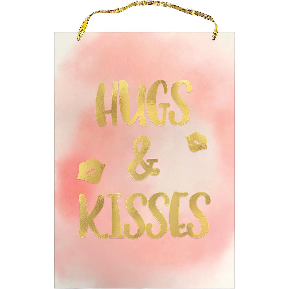 Metallic Hugs & Kisses Sign Image #1