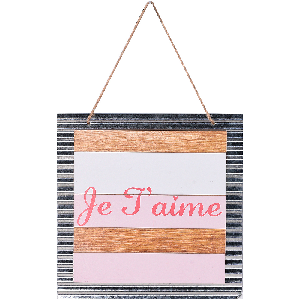 Je T'aime Sign Image #1