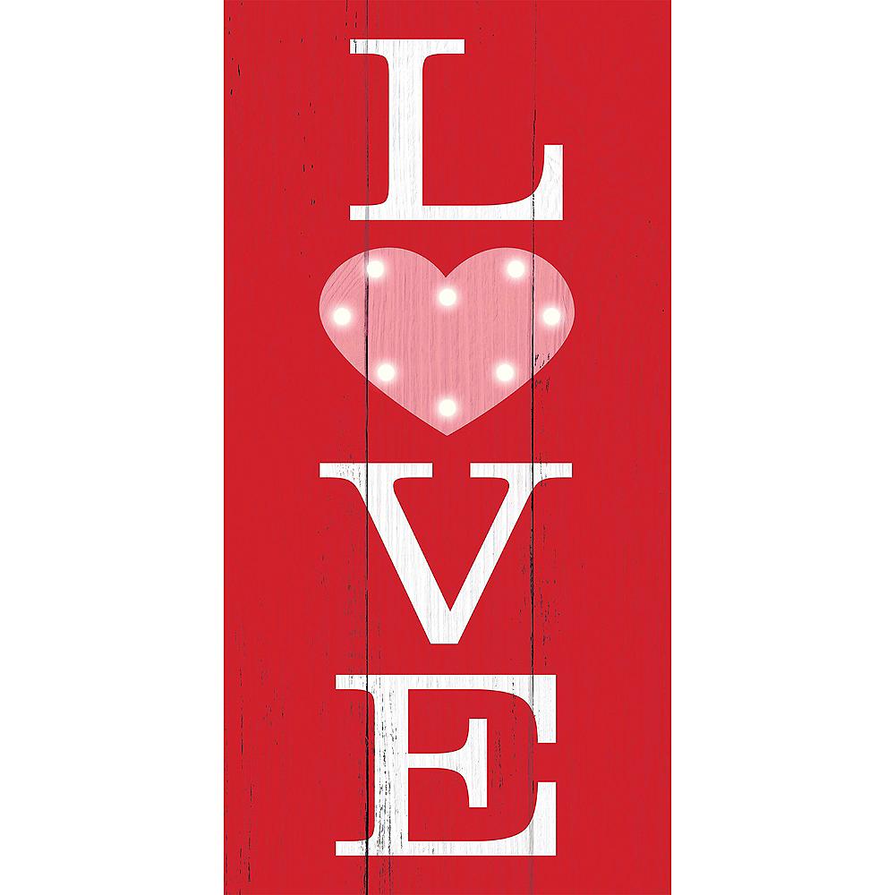 Light-Up Love Easel Sign Image #1