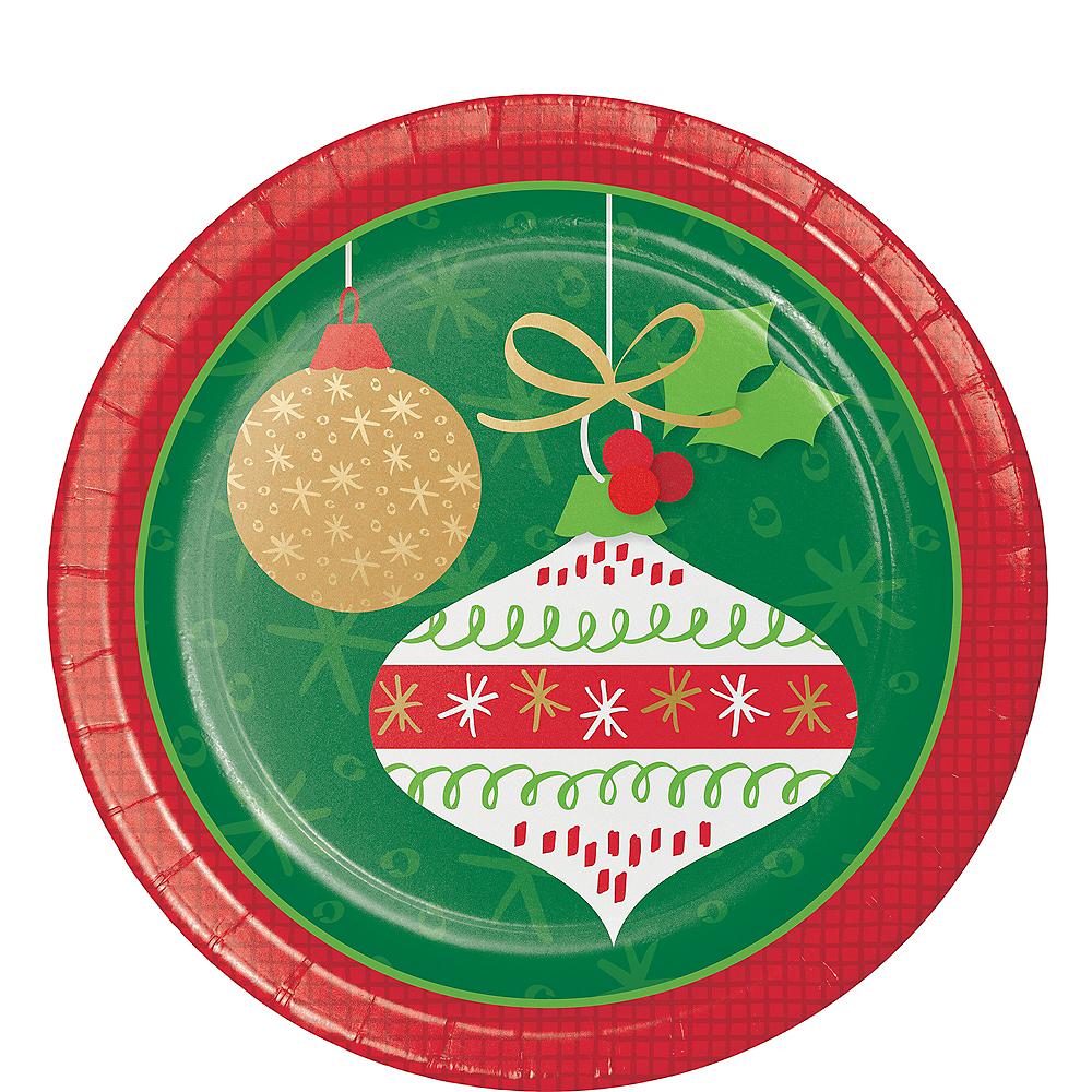 Glittering Ornaments Dessert Plates 8ct Image #1