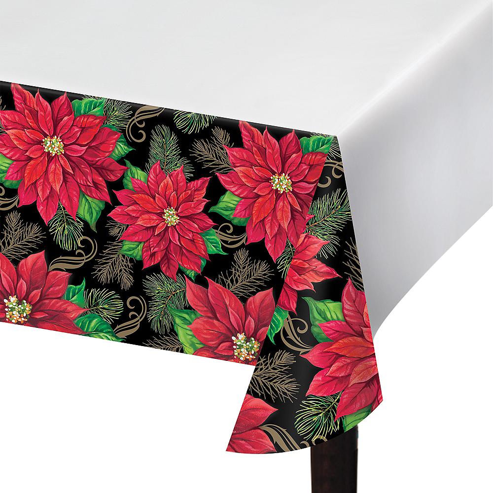 Posh Poinsettia Table Cover Image #1