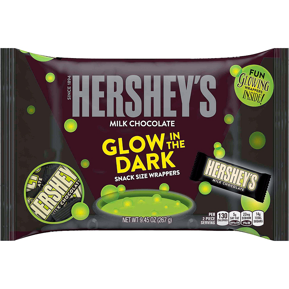 Snack Size Hershey's Milk Chocolate with Glow-in-the-Dark Wrappers Image #1