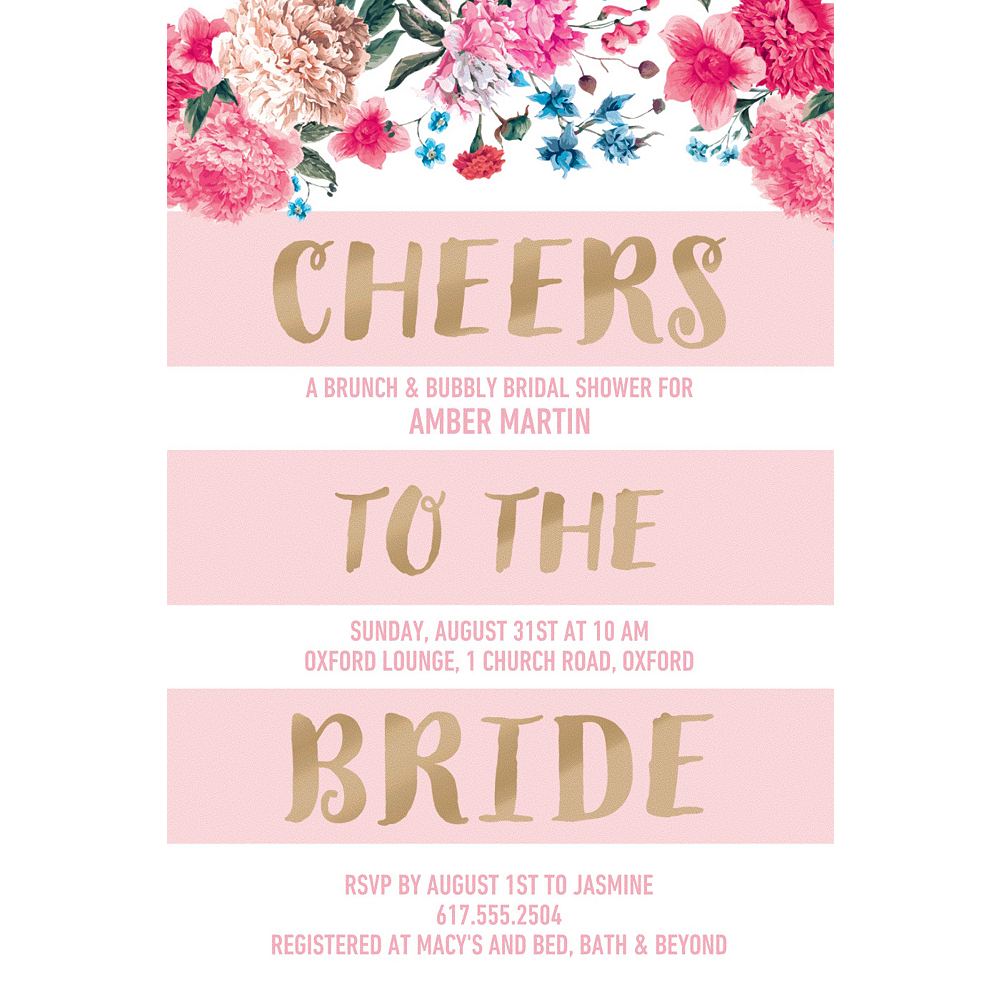Custom Cheers to the Bride Invitations  Image #1