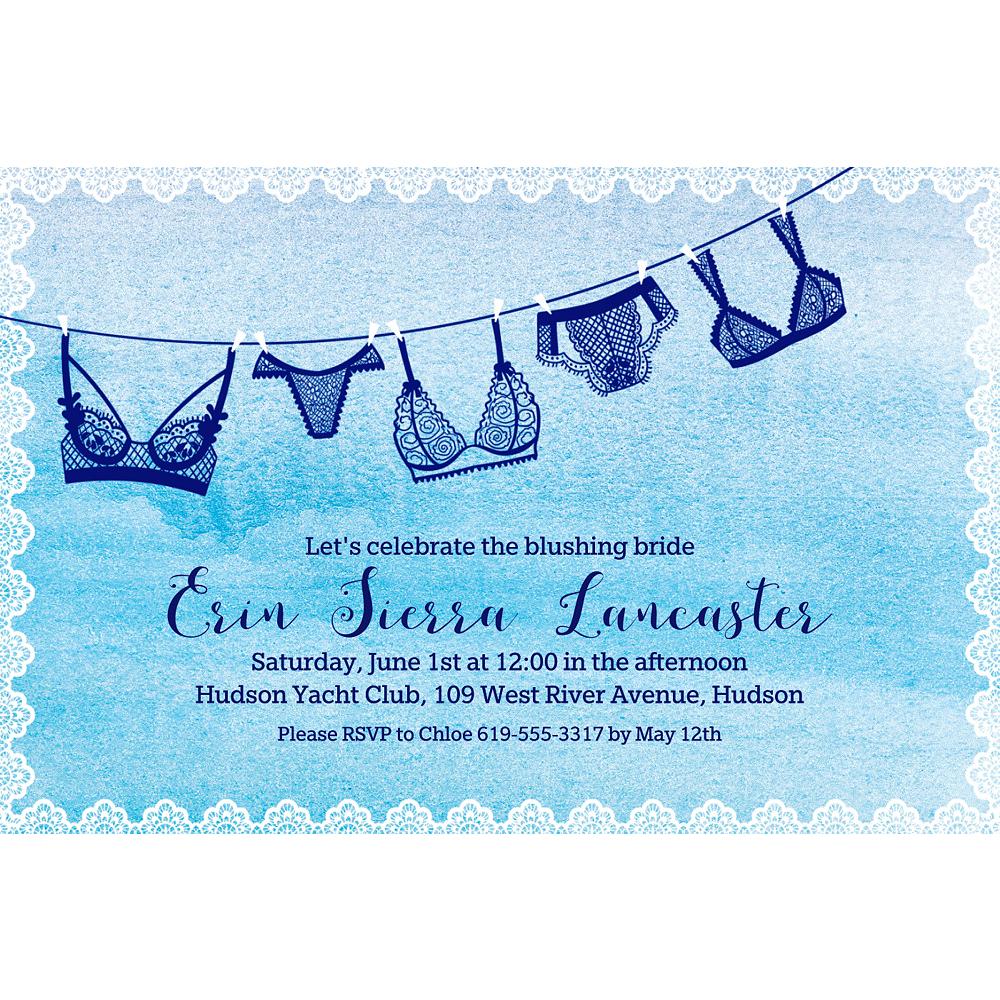 Custom Pretty Little Lingerie Invitations Image #1