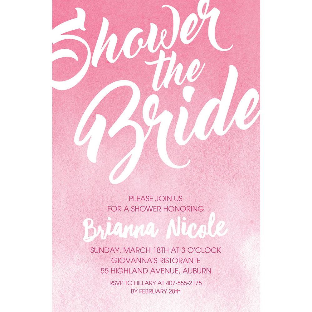 Custom Pink Shower the Bride Invitations Image #1