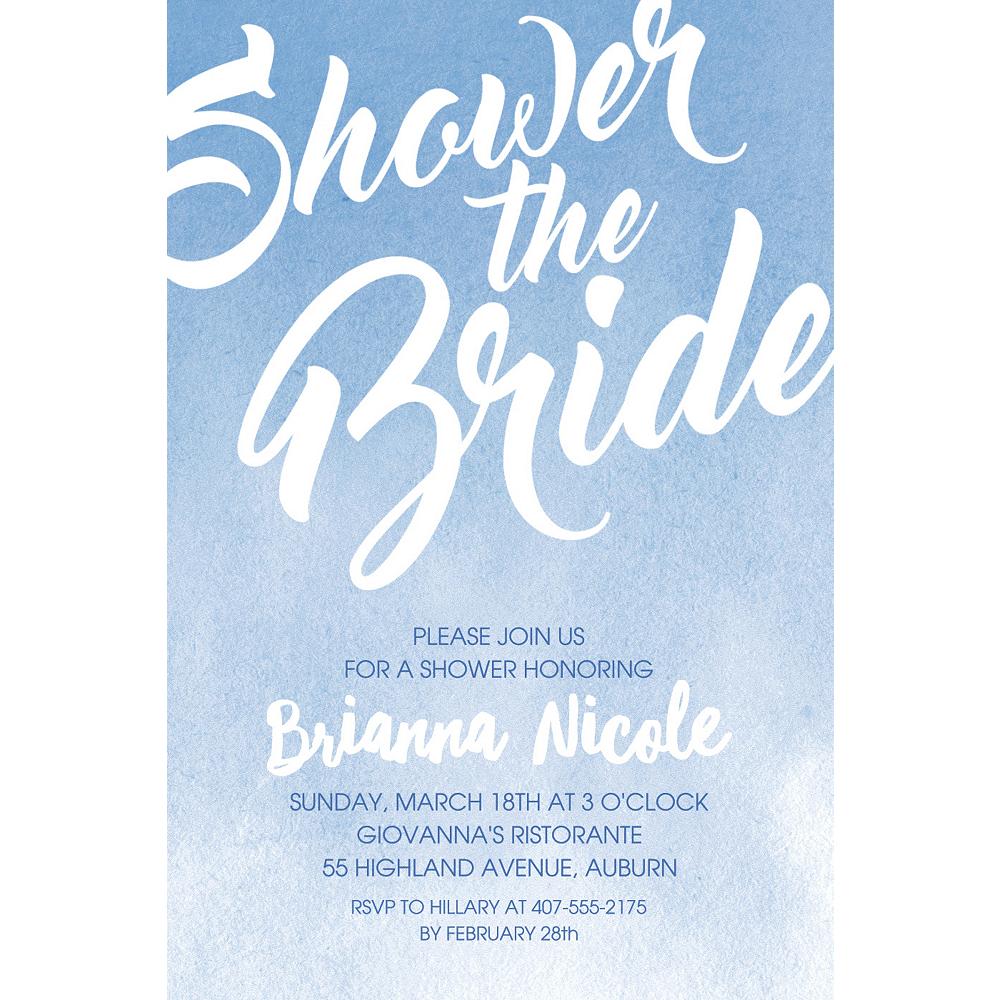 Custom Periwinkle Shower the Bride Invitations Image #1