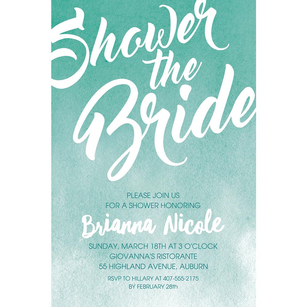 Custom Mint Shower the Bride Invitations Image #1