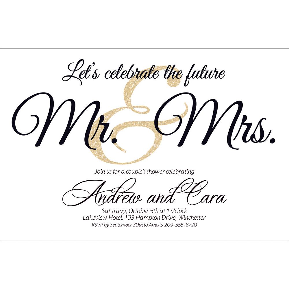 Custom Future Mr. & Mrs. Invitations Image #1