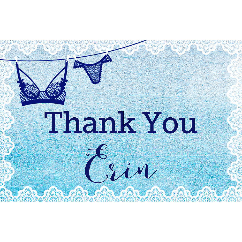 Custom Pretty Little Lingerie Thank You Notes Image #1